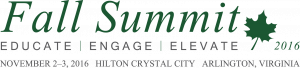 Event landing page 2016 Fall Summit Logo