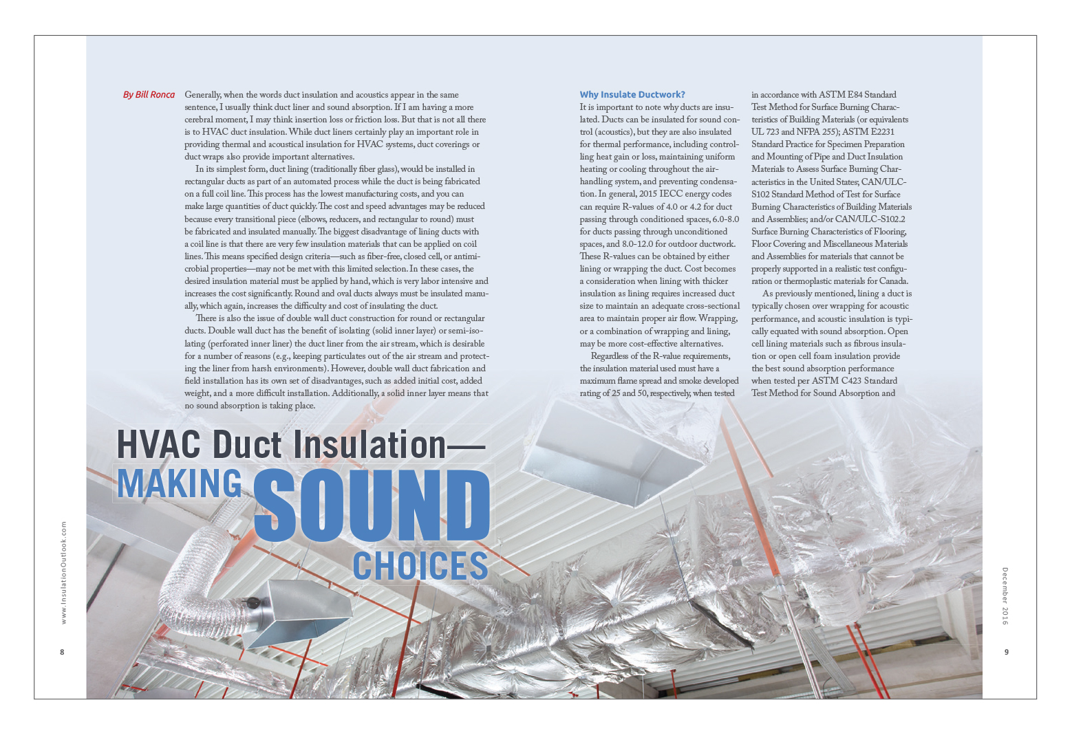 Hvac Duct Insulation Making Sound Choices Insulation Outlook