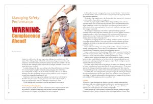 Managing Safety Performance: Warning: Complacency Ahead