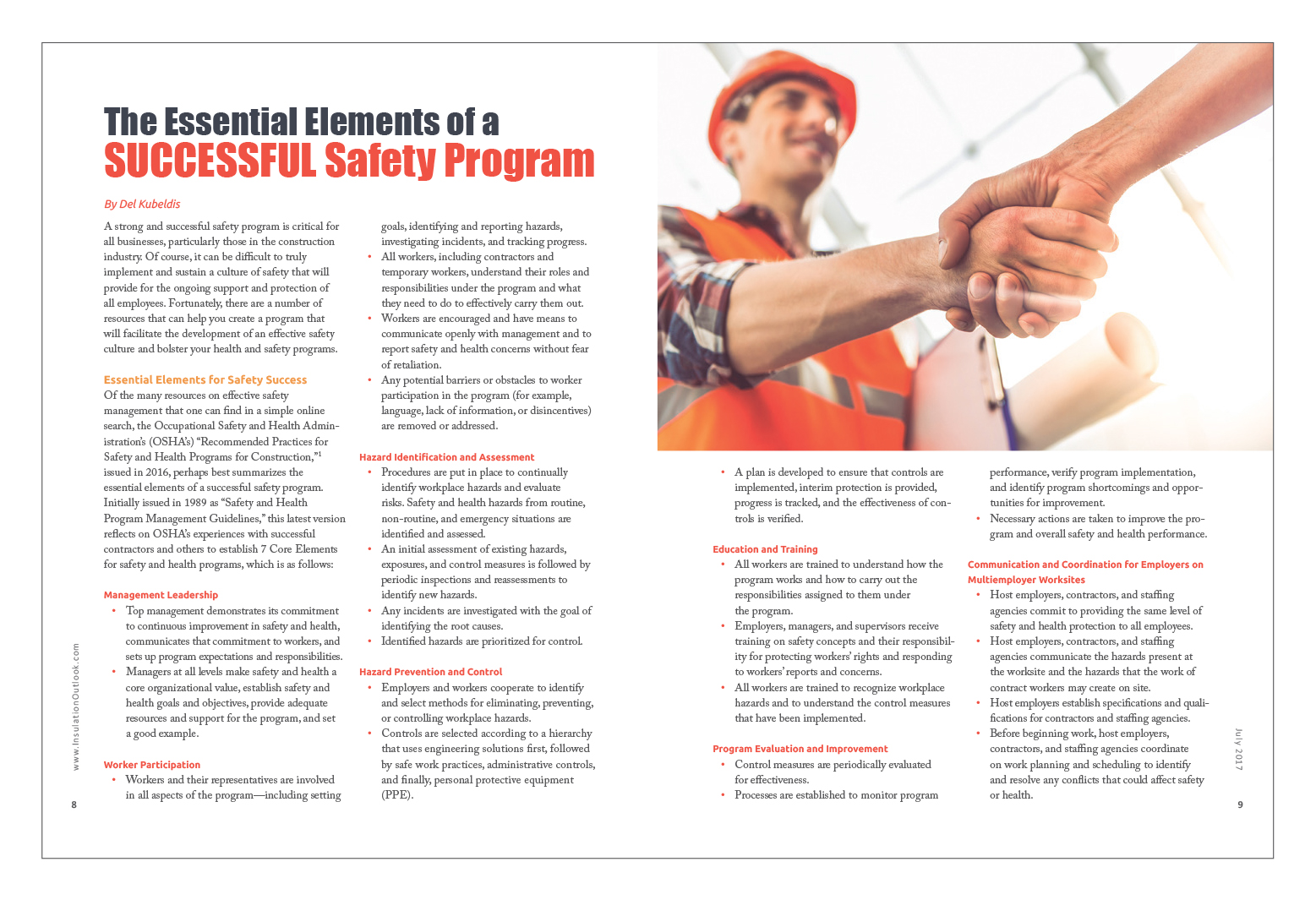 The Essential Elements Of A Successful Safety Program Insulation