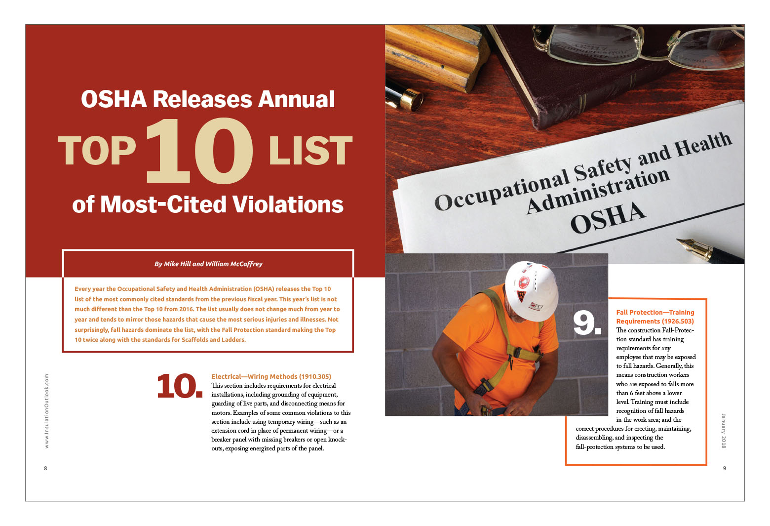 Osha releases annual top 10 list of most cited violations not surprisingly fall hazards dominate the list with the fall protection standard making the top 10 twice along with the standards for scaffolds and 1betcityfo Images