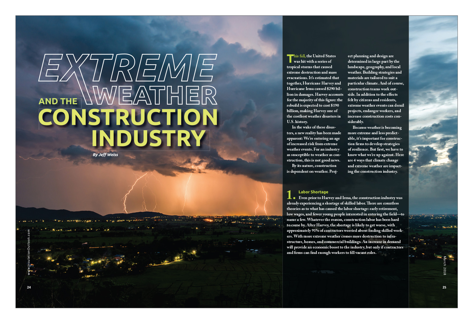 Extreme Weather and the Construction Industry - Insulation
